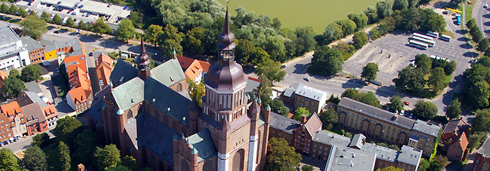 Bird's eye view of St. Mary's church
