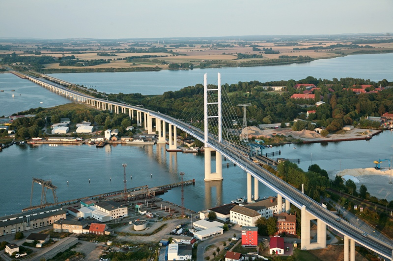 The Rügen bridge