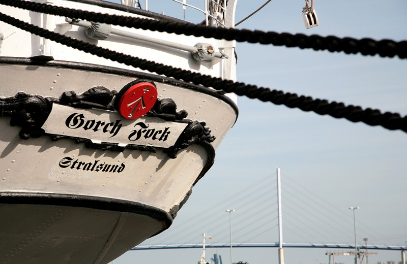 The former training ship Gorch Fock (I)